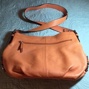 Coach Duffle Crossbody - Tangerine Pebble Leather